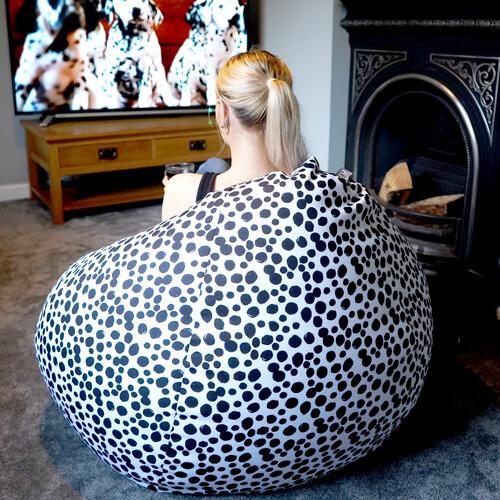 Dalmatian print Slouchbag Beanbagl