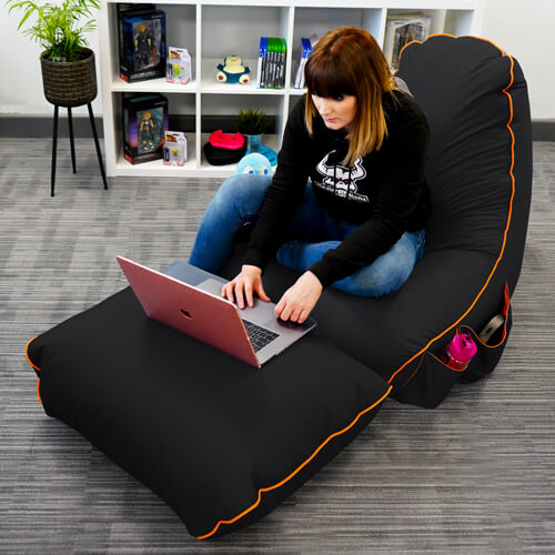rugame gamer Beanbag Chair and Footstool
