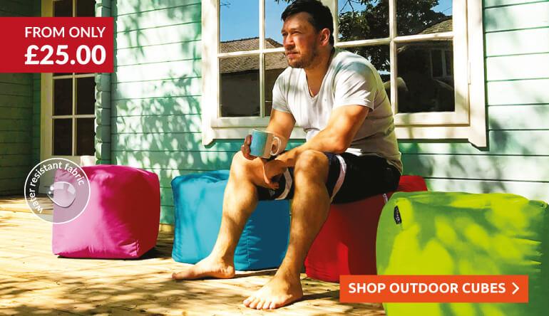 Outdoor Beanbag Cubes