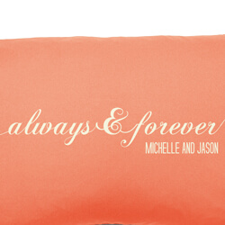 Always and Forever Cushion Close Up