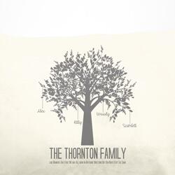 Family Tree Cushion Close Up