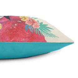 Reverse side of flamingo cushion