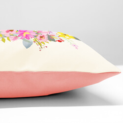 Floral Mum Cushion side view