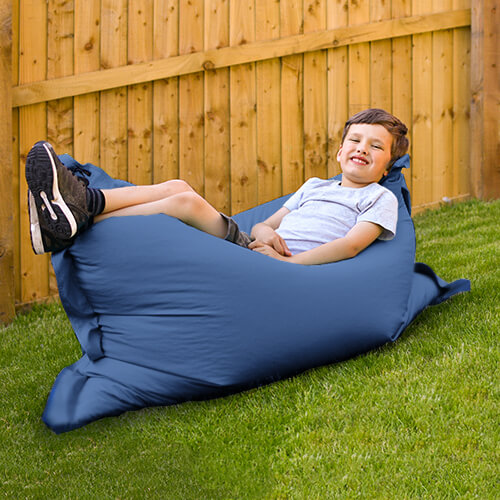 Junior Squarbie Beanbag outdoors in the garden