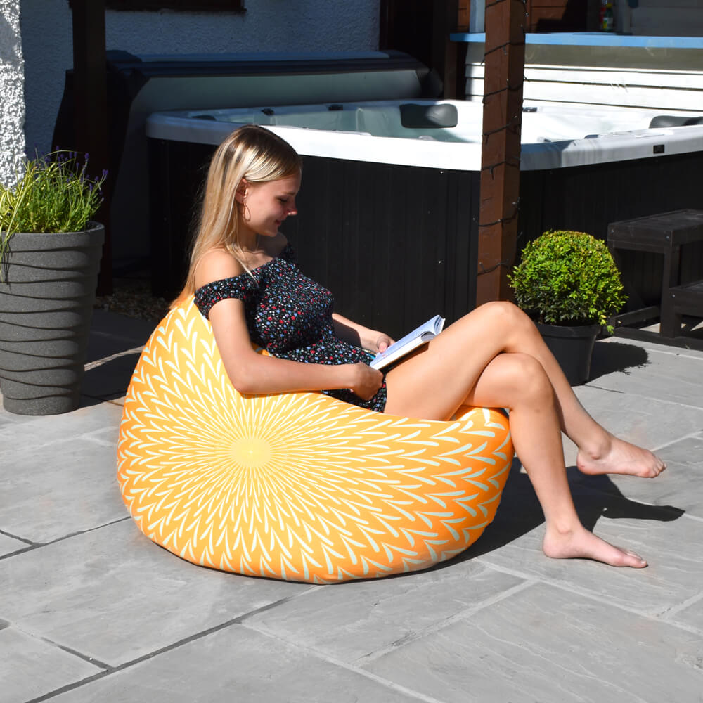 Sunburst Floor Cushion - Indoor/Outdoor
