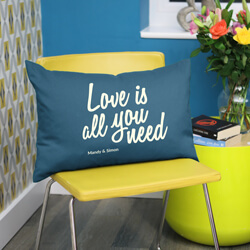 Love is all you need Cushion on chair