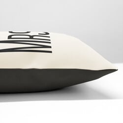 Mr and Mrs Right Cushions Side View