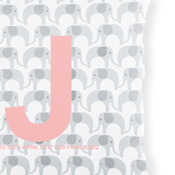 Personalised Elephant Cushion Detail