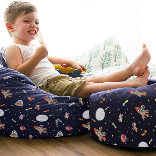 Belle and Boo Space Adventure beanbag and kids stool