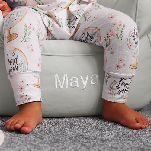 Personalised toddler beanbag armchair