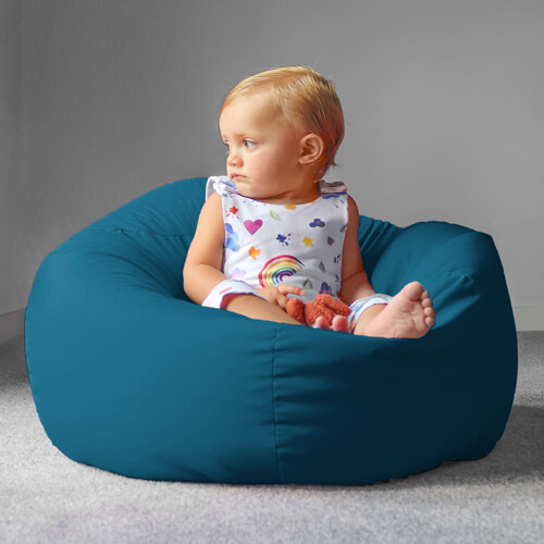 Small Kids Beanbag in Teal