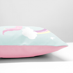 Personalised Unicorn Cushion Side View