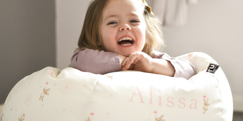 Personalisation on Small Kids Dandelion Bean Bag From Belle and Boo