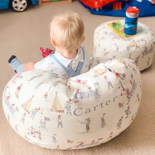 Personalised Belle and Boo Pirate small kids beanbag
