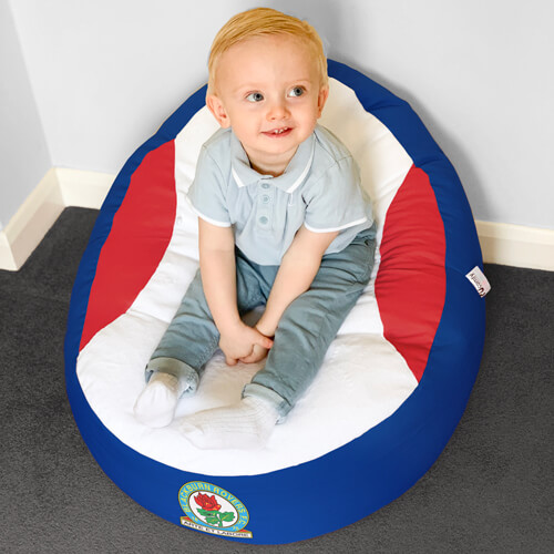 Blackburn Rovers Baby Beanbag with Toddler