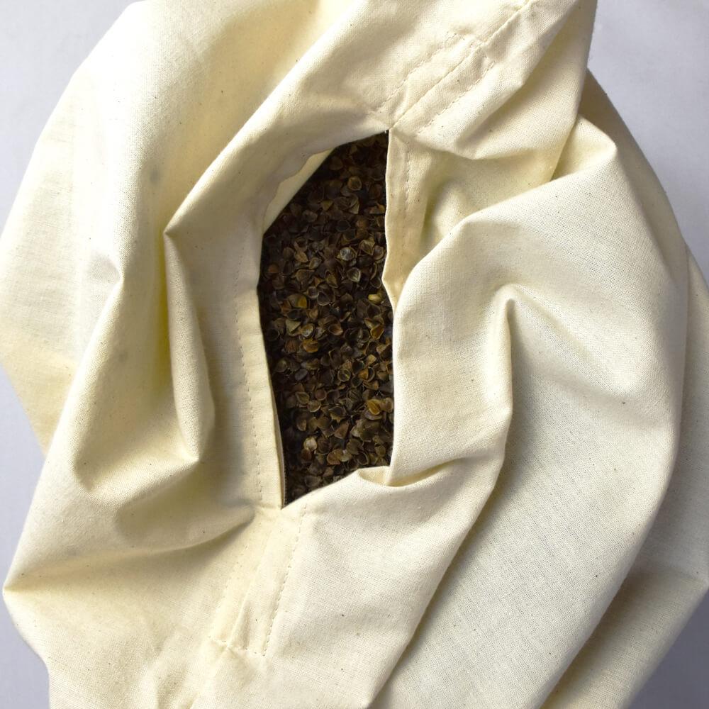 Organic Buckwheat Husk Pillow Made in the UK