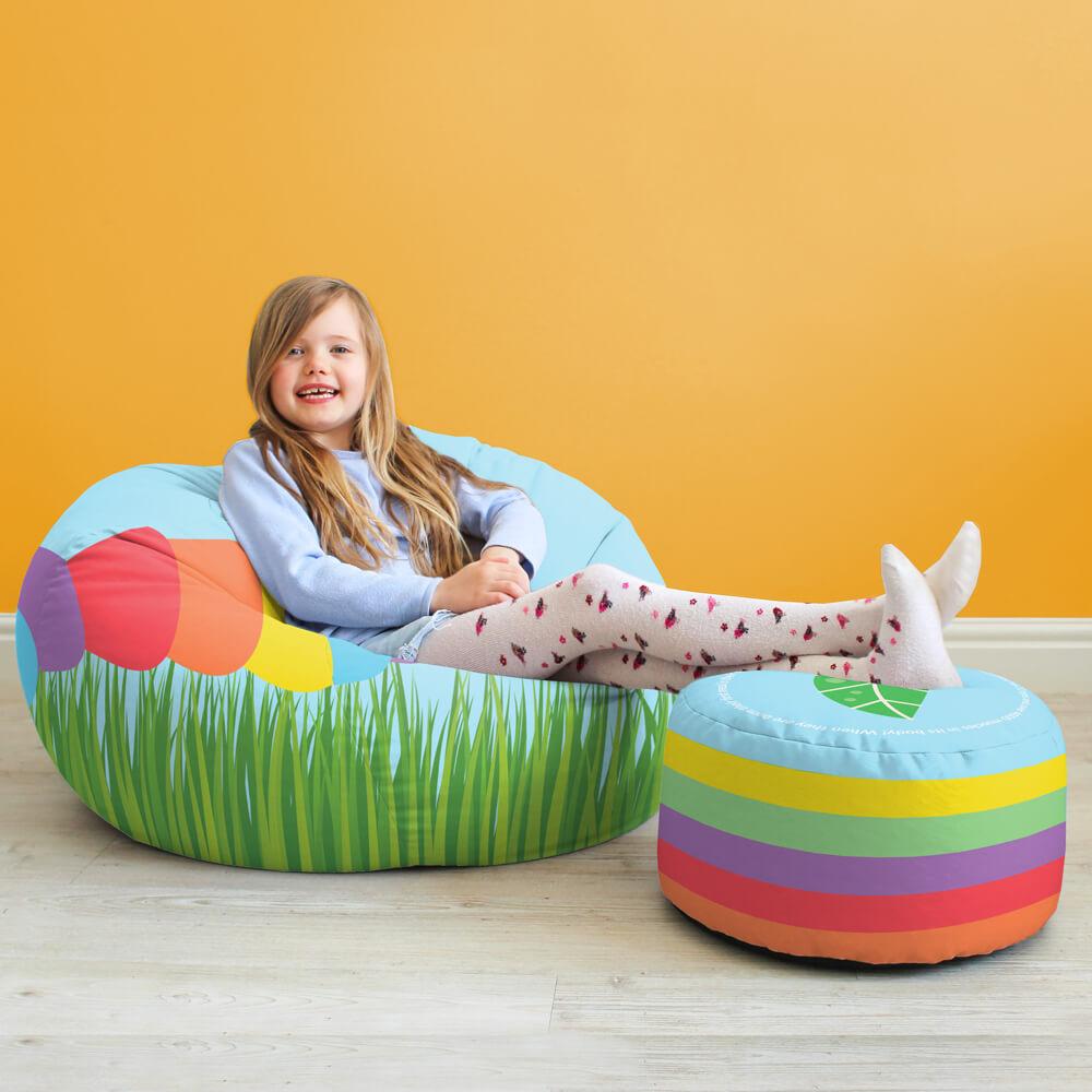 Caterpillar Kids Stool rucomfy beanbags