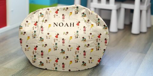 Personalised Classic Belle and Boo Small Kids Beanbag