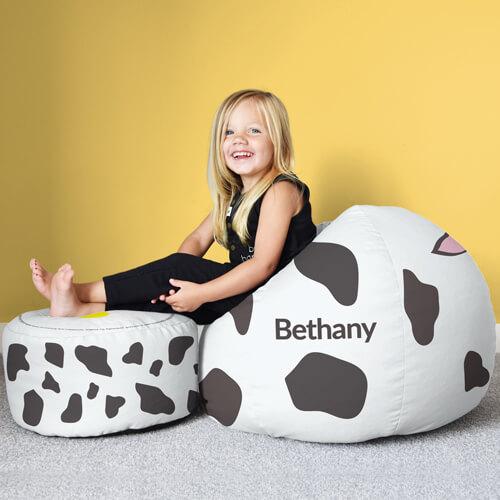 Cow Kids Beanbag Stool