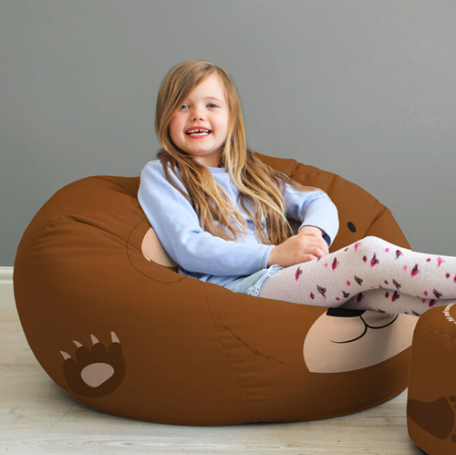 Trio of Woodland Animal Beanbags - Medium rucomfy beanbags