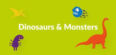 Dinosaur and Monster Bean Bags