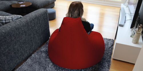 Extra Large Classic Bean Bag from the back