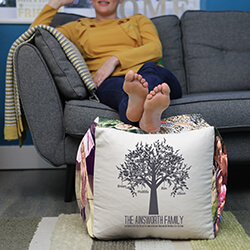 Personalised Family Tree Cube Beanbag