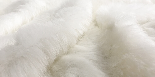 Ivory Faux Fur Fabric