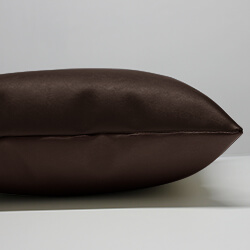 Faux Leather Cushion Side View