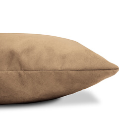 Faux Suede Cushion Side View