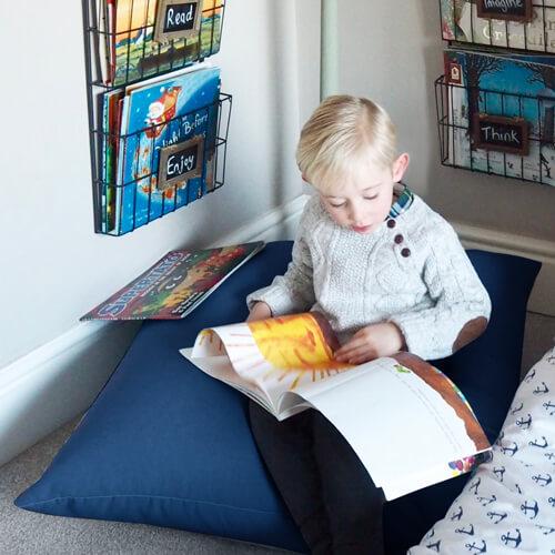 Yellow Mini Kids Floor Cushion