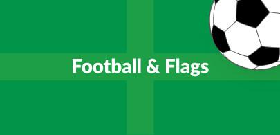 Football and Flag Beanbags
