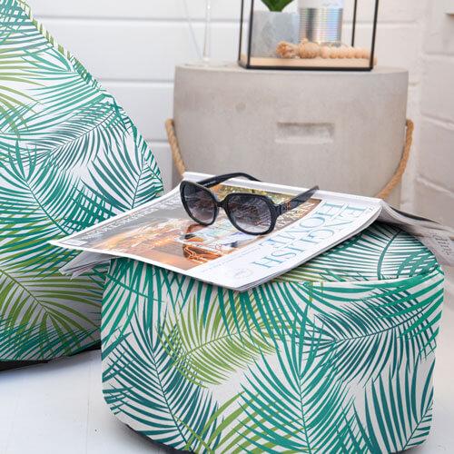 Tropical bird Print Beanbag