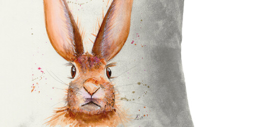 Harlow The Hare Cushion Detail