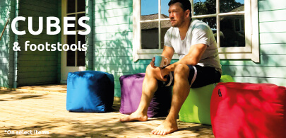 Outdoor Bean Cubes and Footstools