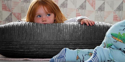 Kids with Jumbo Cord Floor Cushion