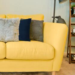 jumbo cord cushion on couch