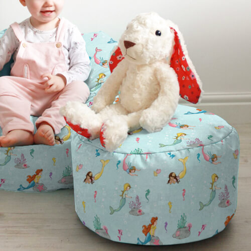 Belle & Boo Mermaid Play Kids Beanbag Stool