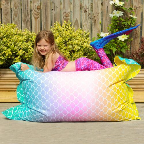 Mermaid Kids Beanbag Outside