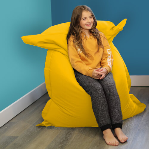 Yellow Shape-It Floor Cushion Bean Bag