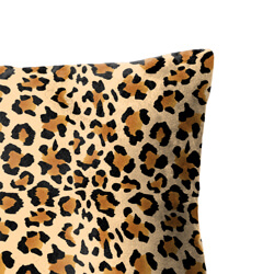 Faux Suede Leopard Print Cushion Close Up