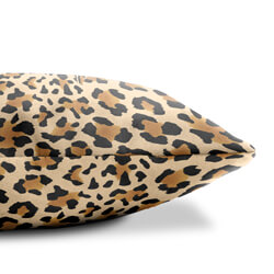 Leopard print cushion side view