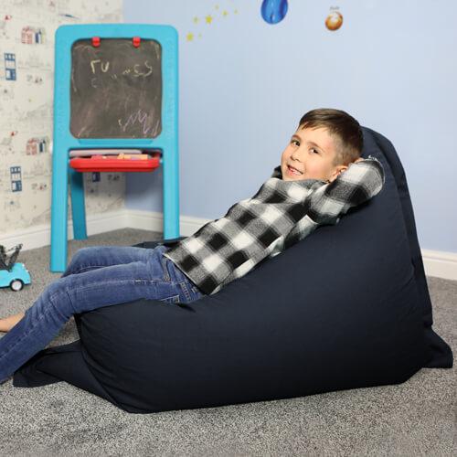 Navy Blue Medium Shape-It Floor Cushion