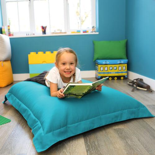 Turquoise Medium Shape-It Floor Cushion