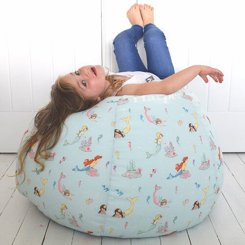 Belle and Boo Kids Classic Beanbag with Mermaid Play Pattern