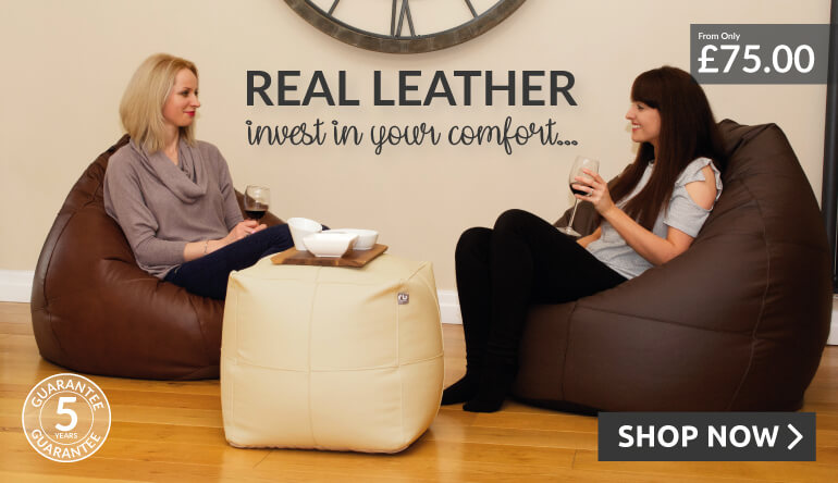 Real Leather Bean Bags and Accessories