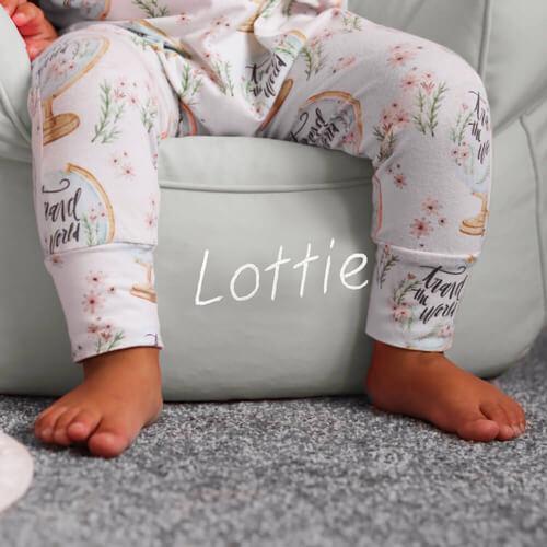 Personalised toddler beanbag armchair
