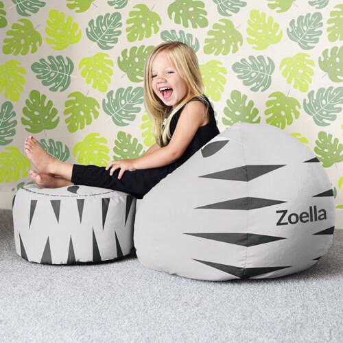 Personalised kids beanbag