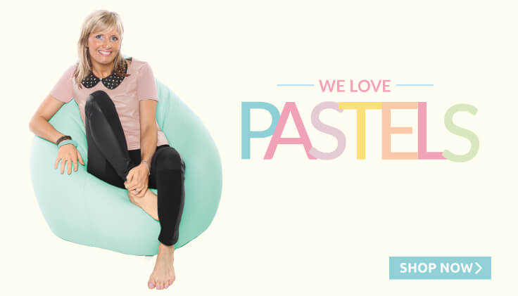 We Love Pastels, a great range of pastel beanbags