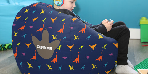 Personalised Dinosaur Kids Beanbag